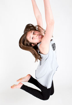 Portrait Photography - young girl jumping