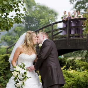 Cascading wedding bouquet at Sheffield wedding