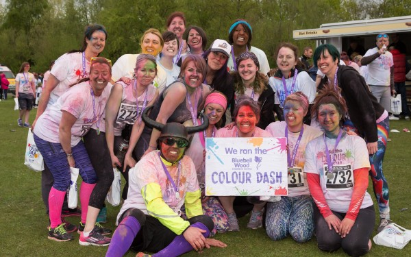 Bluebell Wood Hospice Colour Dash 2015