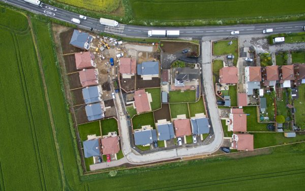 Aerial Photography of a Housing Project