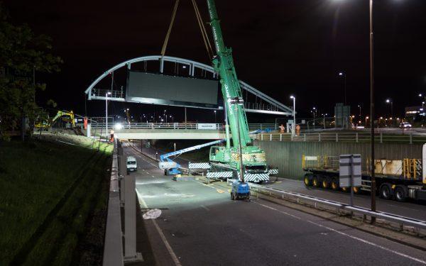 Timelapse & Aerial video of a bridge gantry erection