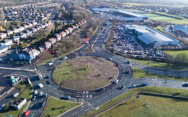 Aerial Photography of Sheffield Road System