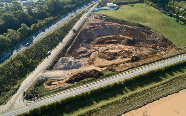 Aerial video with drones – flood alleviation scheme near Hull