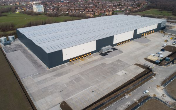 Drone video of the largest warehouse in Leeds