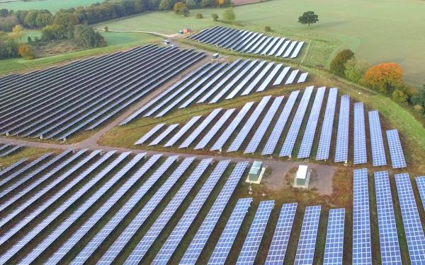 Aerial Videography of Solar Panel Farm