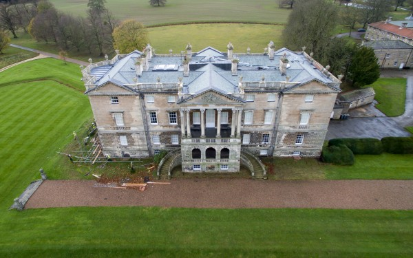 Aerial Photography of a Stately Home near Rotherham – return visit