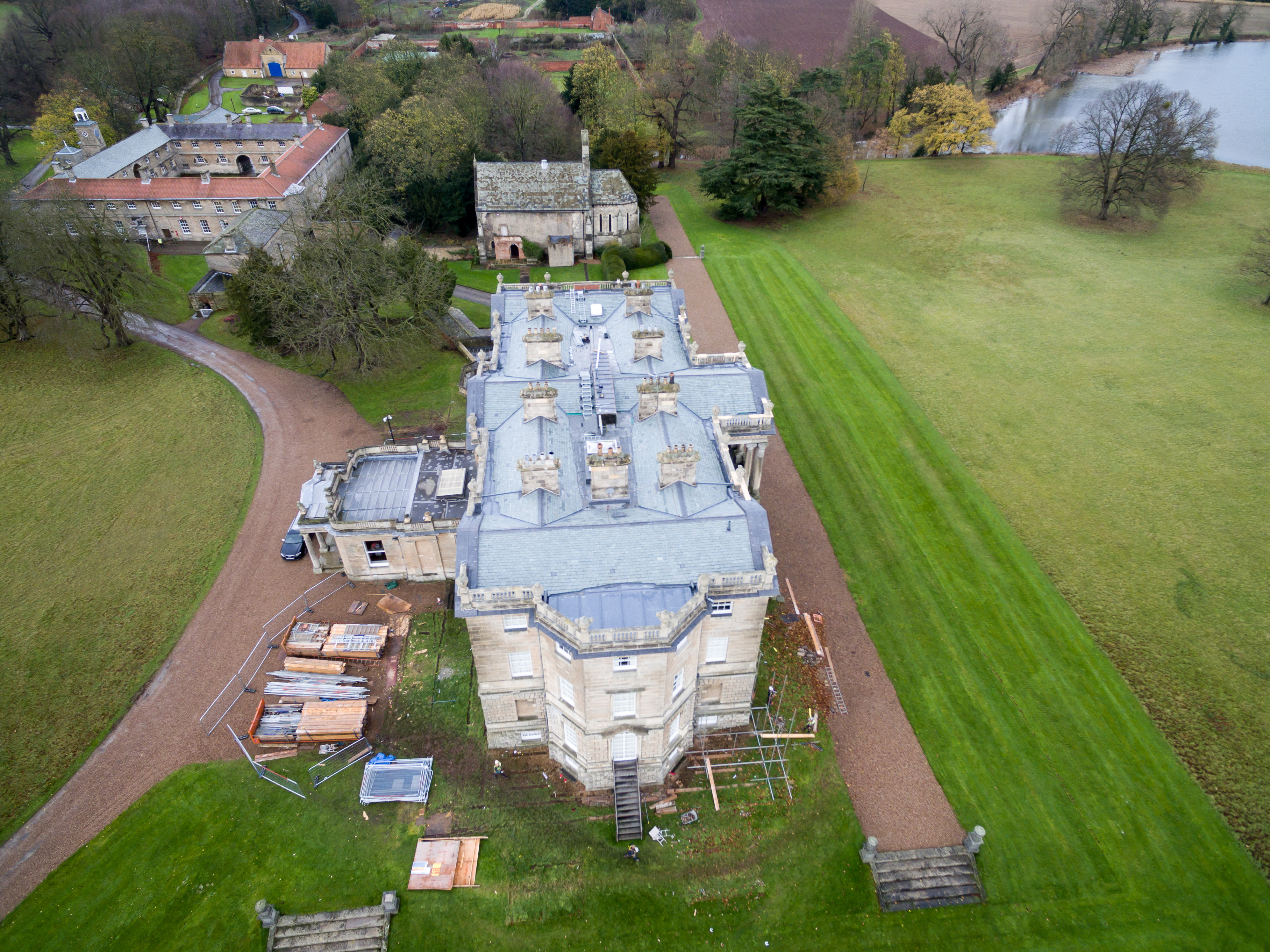 Aerial Photography Of Stately Home Return Visit