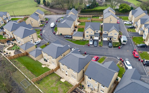 Aerial Photography With a Drone of Housing Estate