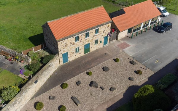Aerial Photography Of Old Granary
