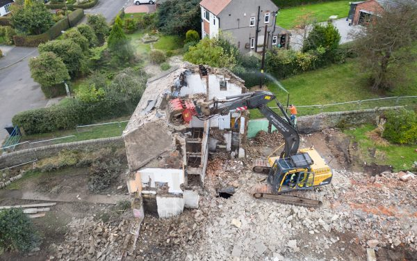 Aerial Photography of a Demolition Site