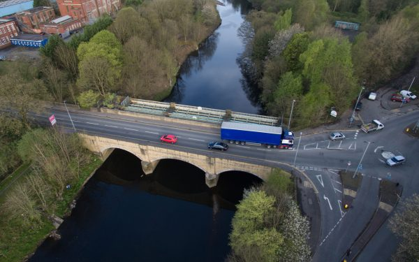 Aerial Surveys with a drone of Bridges in Manchester