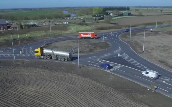 New roundabout on A19