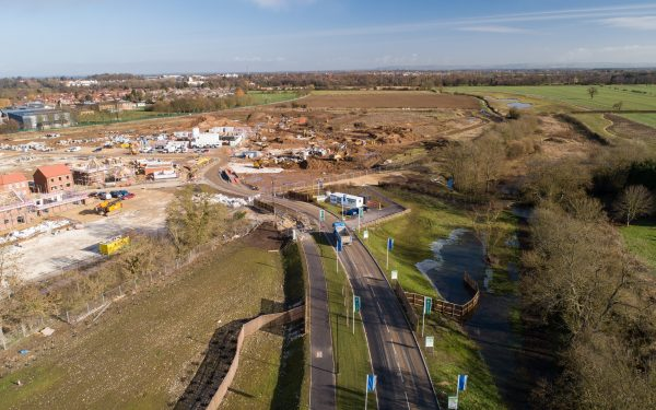 Drone video of Civil Engineering Project near York