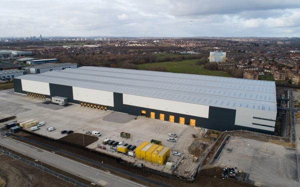 Aerial video of completed project at Aire Valley Enterprise Park, Leeds