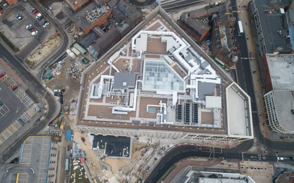 DRONE VIDEO OF THE NEW HSBC BUILDING IN SHEFFIELD