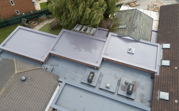 Roofing survey with a drone