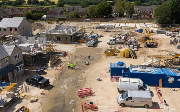 Aerial video of new housing estate for Arncliffe Homes