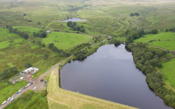 Aerial video of Gas pipeline repairs in the Brecon Beacons