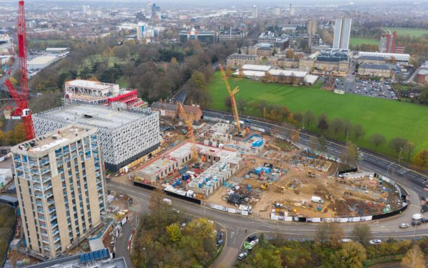 Drone video for Engie at the Freemen's Common construction site in Leicester