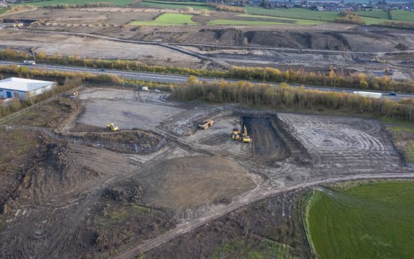 Aerial video of huge civils project on the Dearne Valley Parkway