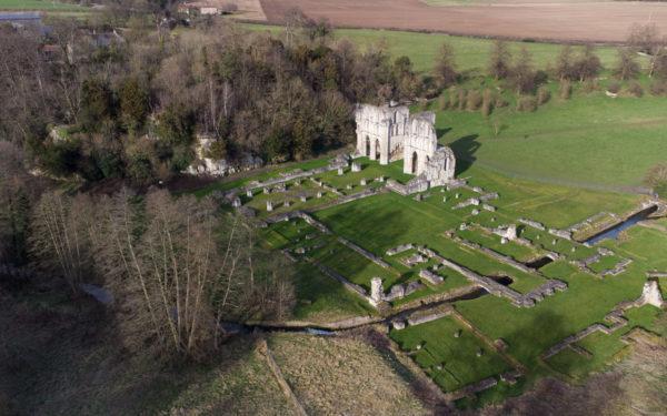 Roche Abbey drone video