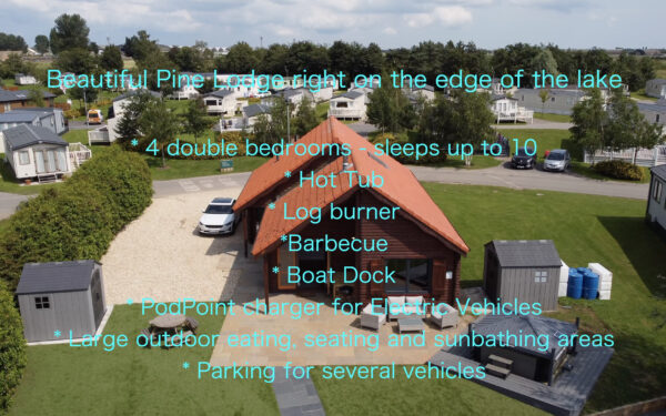 Aerial marketing video of a pine lodge